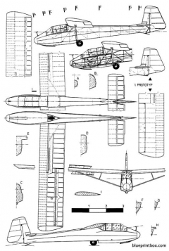 letov lf 109 pionyr model airplane plan