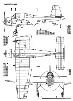 letz37 3v model airplane plan