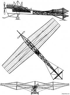 levavasseur antoinette vii model airplane plan