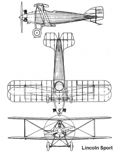 lincoln sport 3v model airplane plan