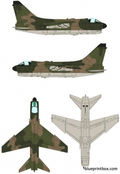 ling temco vought a 7d corsair ii model airplane plan