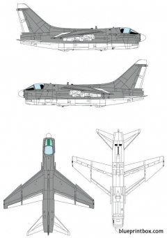 ling temco vought a 7e corsair ii model airplane plan