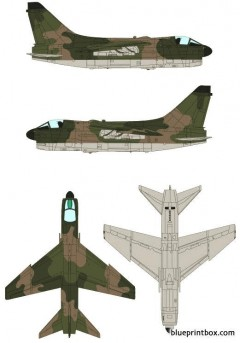 ling temco vought a 7h corsair ii model airplane plan