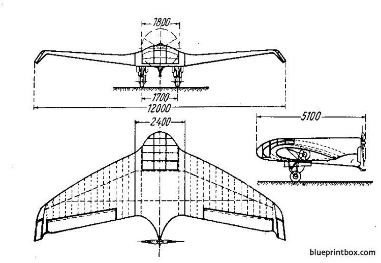 lippisch dfs40 delta v model airplane plan
