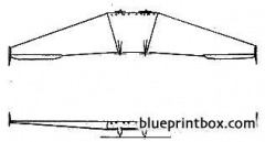 lippisch flywing 1928 model airplane plan