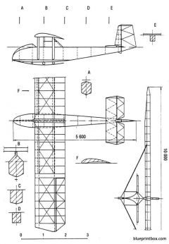 lippisch grune post model airplane plan
