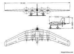 lippisch p08 model airplane plan