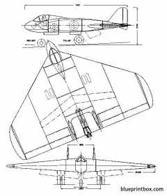 lippisch p11 delta vi v1 model airplane plan