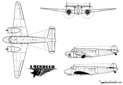 lockheed 10 electra model airplane plan