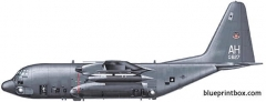 lockheed ac 130a gunship model airplane plan