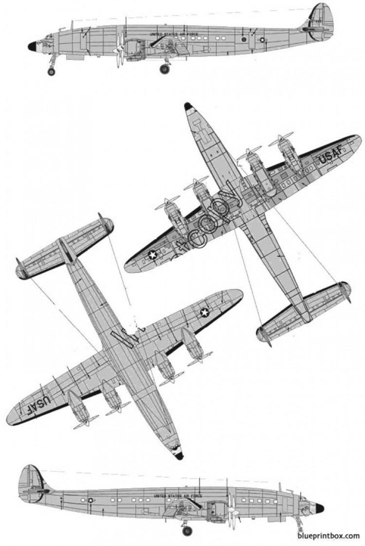 lockheed c 121c constellation model airplane plan