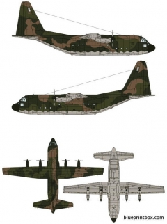 lockheed c 130 hercules model airplane plan