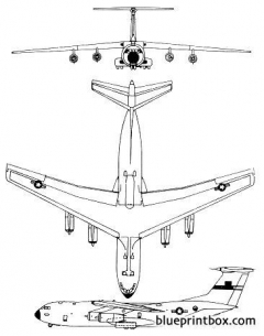 lockheed c 141 starlifter model airplane plan