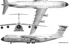 lockheed c 5b galaxy model airplane plan