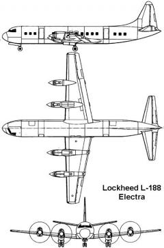 lockheed electra 3v model airplane plan