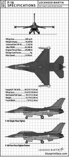 lockheed f16 model airplane plan