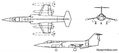 lockheed f 104 starfighter model airplane plan
