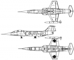 lockheed f 104 starfighter 10 model airplane plan