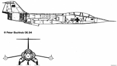 lockheed f 104 starfighter 15 model airplane plan