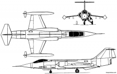 lockheed f 104 starfighter 1954 usa model airplane plan
