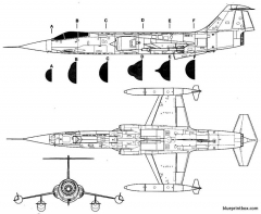 lockheed f 104 starfighter 2 model airplane plan