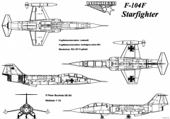 lockheed f 104 starfighter 20 model airplane plan