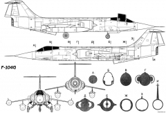 lockheed f 104 starfighter 4 model airplane plan