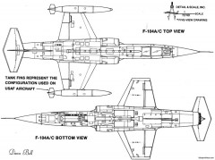 lockheed f 104 starfighter 5 model airplane plan