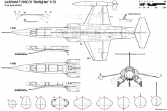 lockheed f 104c d starfighter model airplane plan
