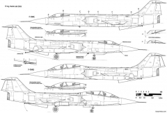 lockheed f 104c d starfighter 3 model airplane plan