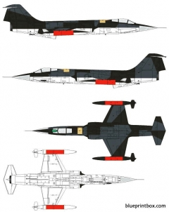 lockheed f 104g starfighter model airplane plan