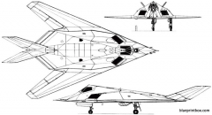lockheed f 117 nighthawk 1981 usa model airplane plan
