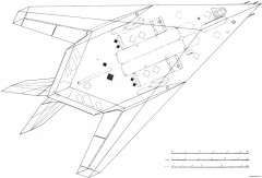 lockheed f 117 nighthawk 2 model airplane plan