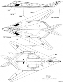 lockheed f 117 nighthawk 5 model airplane plan