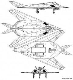 lockheed f 117a nighthawk 2 model airplane plan