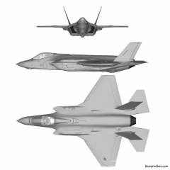 lockheed f 35a model airplane plan