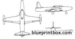 lockheed f 94 starfire model airplane plan