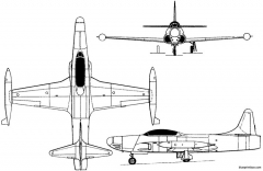 lockheed f 94 starfire 1948 usa model airplane plan