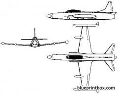 lockheed f 94 starfire 2 model airplane plan