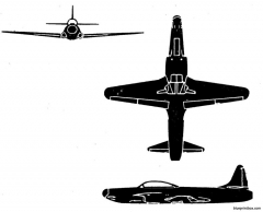 lockheed f 94a model airplane plan