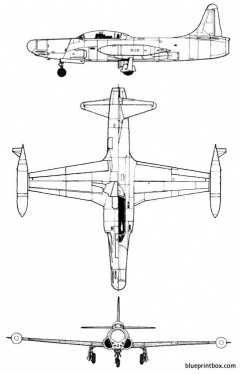 lockheed f 94b starfire model airplane plan