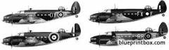 lockheed hudson mkiv model airplane plan