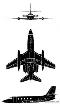 lockheed jetstar model airplane plan