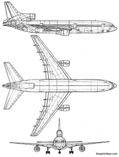 lockheed l 1011 tristar model airplane plan