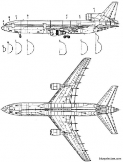 lockheed l 1011 tristar 2 model airplane plan