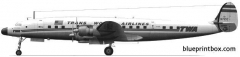 lockheed l 1049 super constellation model airplane plan