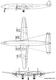 lockheed l 1049a super constellation model airplane plan