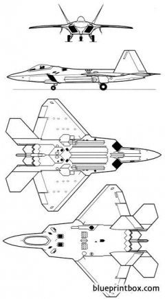 lockheed martin boeing f 22 2 model airplane plan