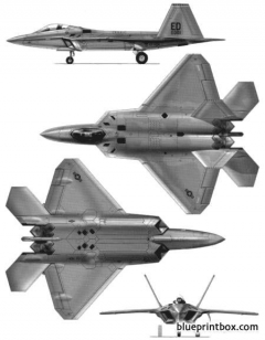 lockheed martin boeing f 22 raptor 2 model airplane plan