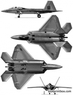 lockheed martin f 22 raptor model airplane plan